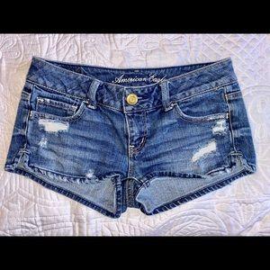 American Eagle short shorts stretch size 00